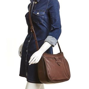 FRYE OLIVIA LARGE LEATHER CROSSBODY